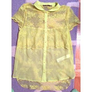 Zara Neon Lace Blouse 111