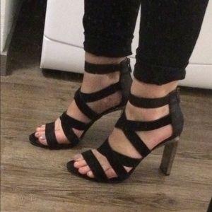 BCBG Max Azria black runway heels