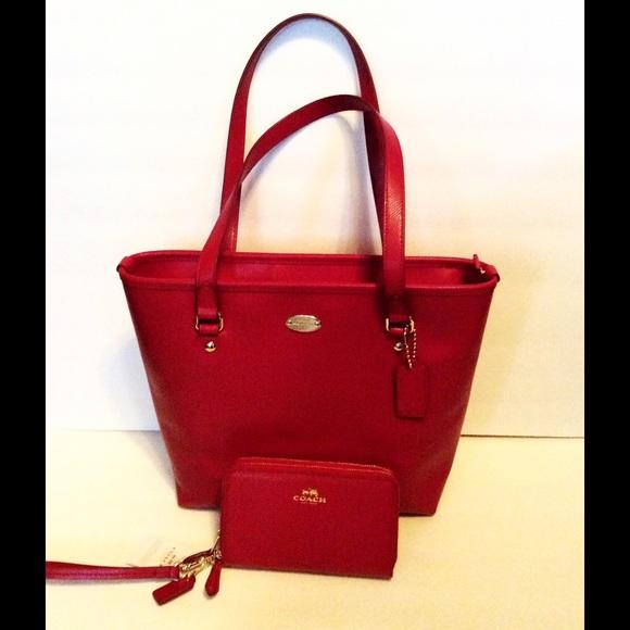 4f0574c9520 Coach Bags   Red Leather Handbag Clutch Nwt   Poshmark