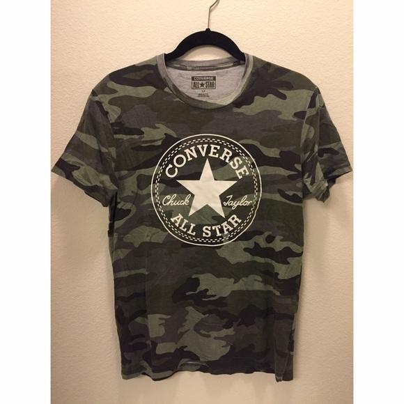 a891900e329312 Converse Tops - Converse Camo Shirt