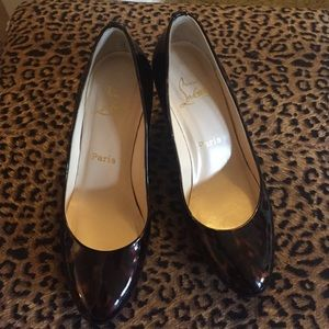 Christian Louboutin Shoes - Authentic Christian Louboutin Tortoise Patent Heel