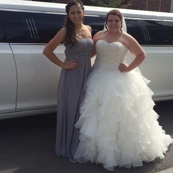 9bf8ae071307 David's Bridal Dresses | Grey Long Formal Gownmercury Color Davids ...