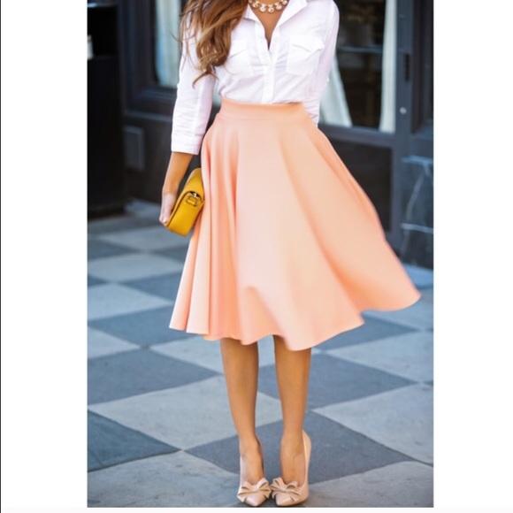 Zara - Zara peach midi skirt re poshing NWOT from Danny's closet ...