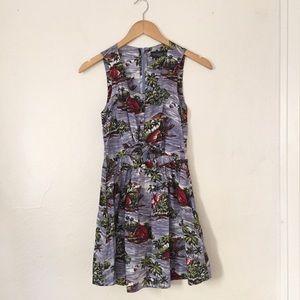 Topshop Cutout Printed Dress.