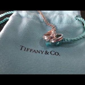 Tiffany 3 ring interlocking necklace