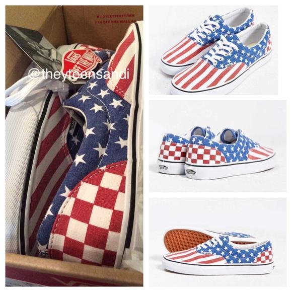 969ff48ad1d516 🇺🇸Vans Van Doren Stars   Stripes Canvas Sneakers