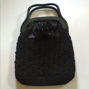 Vintage Black Lucite Crochet Bag ~ Crochet Works