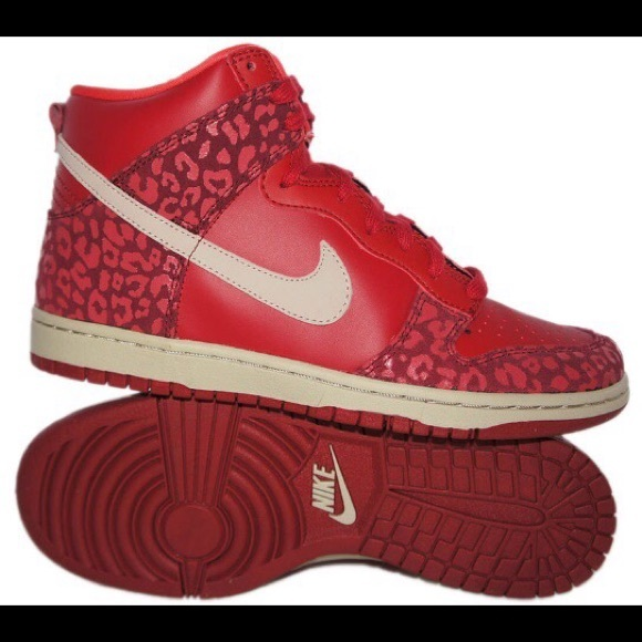 nike leopard print high top sneakers