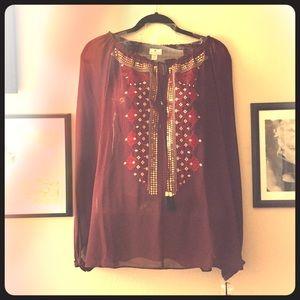 Altuzarra for Target Embroidered Blouse