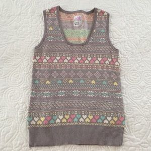 A fine mess Sweaters - Winter print sweater vest