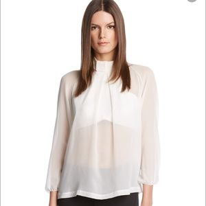 Robert Rodriguez Tops - 🆕 Robert Rodriguez sheer white open back top, xl