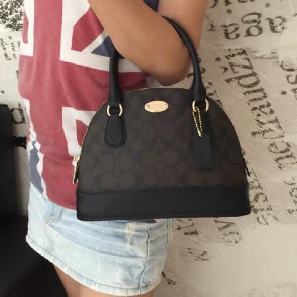 Coach - SALE!❤️Coach Cora Mini Domed Satchel Handbag from ...