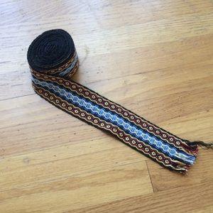 Accessories - Black, red. Blue vintage wrap belt