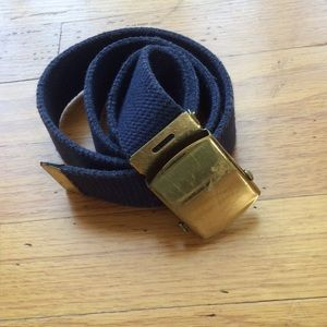 Accessories - Blue vintage belt with gold buckle