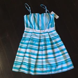 Brand new teal and white summer dress. 6