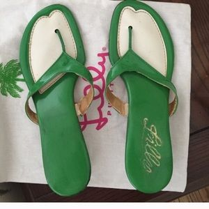 Lily vintage sandals SZ 6-6.5 green white
