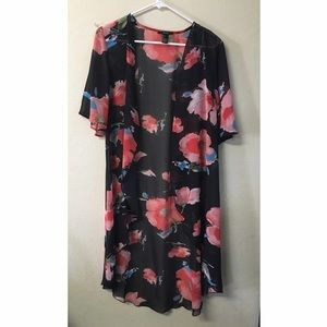 Other - Floral open front kimono
