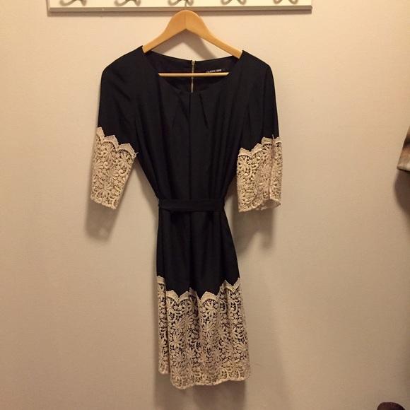 Gianni Bini Dresses Black Dress With Crochet Lace Poshmark
