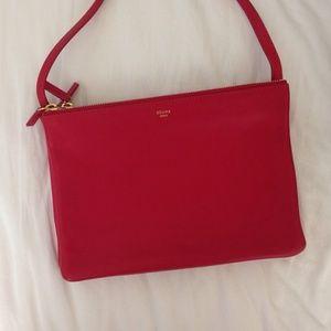 Celine Handbags - Celine Red Large Trio