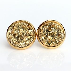 thejeweladdict Jewelry - 3 for 15🎀 Golden chunky Druzy style earrings