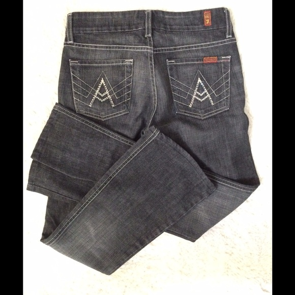 88% off Seven7 Denim - Black Swarovski pocket Seven jeans from