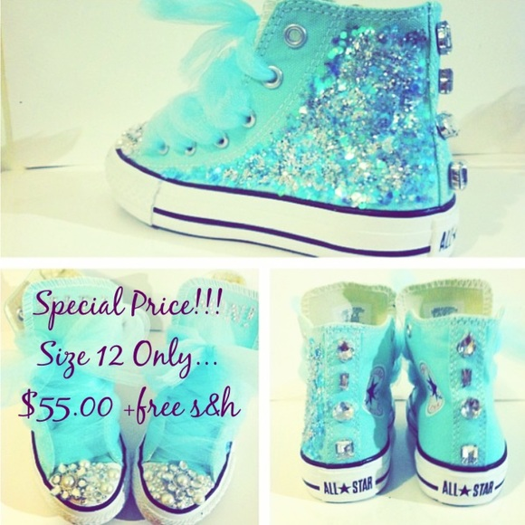 c24321cb3000 Custom Converse at a Special Price! Size 12 Girls