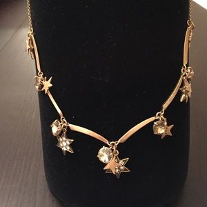 J Crew Dazzling Star Necklace NWOT