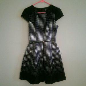 Gorgeous Black + White Polka Dot Dress - Oasis UK