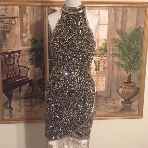 Lillie Rubin Dresses | Host Pick Vintage Beaded Dress | Poshmark