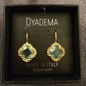Dyadema Jewelry - Dyadema .925 Gold Finish -Sterling Silver Earrings
