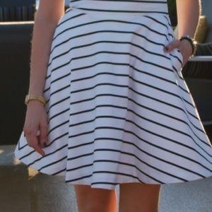 Sam Edelman Dresses - Sam Edelman black and white stripe dress.