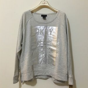 DKNY heather gray sweater