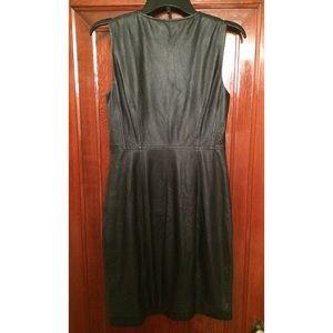 8d0361ccfb7a66 Elie Tahari Dresses - Elie Tahari Sleeveless Leather Zip Front Dress