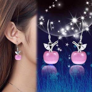 925k sterling silver cat's eye moon stone earrings
