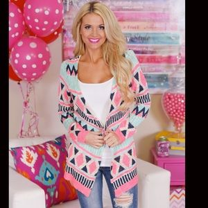 💗NEW💗Colorful Aztec Tribal Cardigan