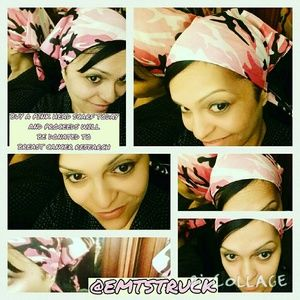 Camouflage Pink Headscarf