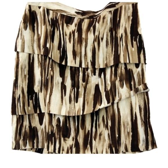 f5b8d18186a Adrienne Vittadini Dresses   Skirts - ADRIENNE VITTADINI PRINT LINEN BLEND  SKIRT 6