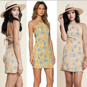 New for love & lemons aloha dress bird of paradise
