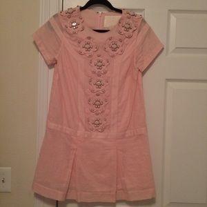 Karta pink linen mini dress