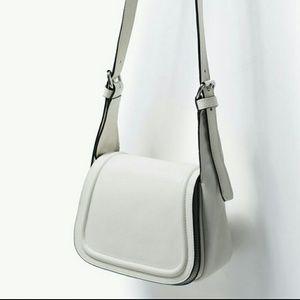 Zara leather messenger bag (4213)