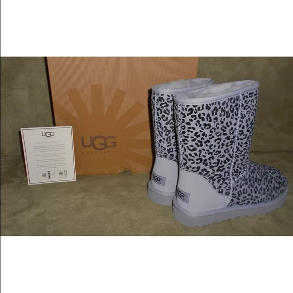 5ee43c9b0e4c UGG Shoes | S Womens Classic Short Rosette Lilac Leopard | Poshmark
