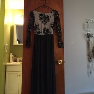 Dresses & Skirts - Black open back gown