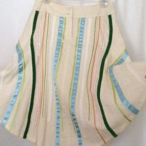 Oilily Dresses & Skirts - Oilily ribbon accent skirt, lined.