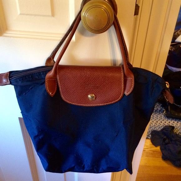 63% off Longchamp Handbags - Small authentic Longchamp bag, navy ...