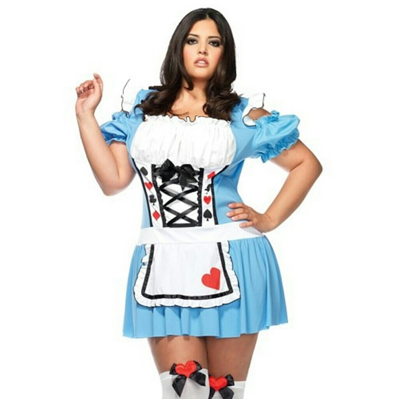 torrid other plus size 3x4x alice wonderland torrid costume - Cheap Plus Size Halloween Costumes 4x