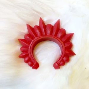 Pamela Love Red Resin Spike Cuff Bracelet