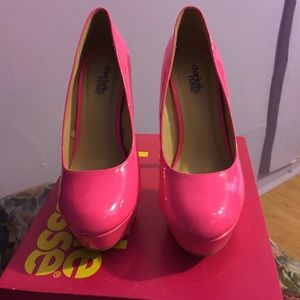 off Charlotte Russe Shoes Neon pink heels w box #0: s 561aaea37fab3a cbef