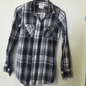 Plaid Black, White & Grey Flannel