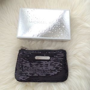 Michael Kors Handbags - Michael Kors Sequin Small Wallet/Change Purse