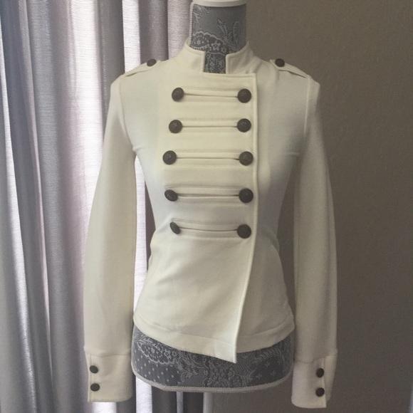 60% off Express Jackets & Blazers - Express White Military Jacket ...